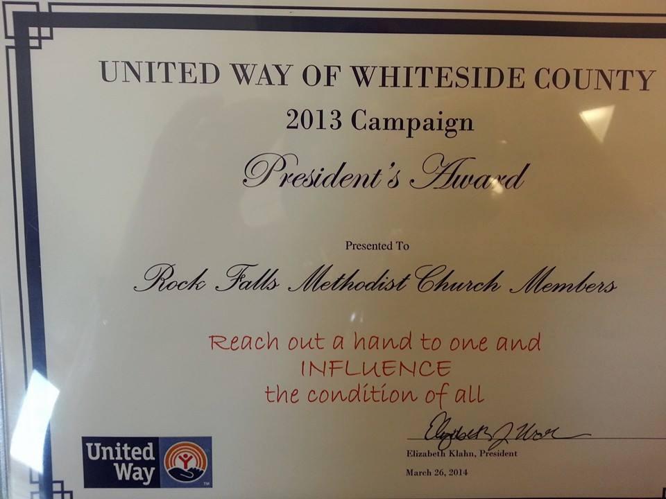 united way president's award